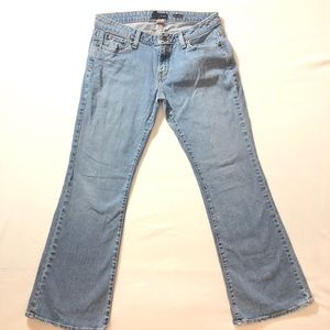 7/8 S Aeropostale Distressed Stretch Flare Jeans